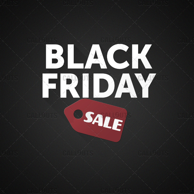 Black Friday Price Tag Sale Graphics Callouts Creative Assets