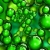 Balls Green Floating & Spinning HD Video Background 0616