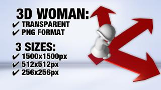 Woman Arrow 3D