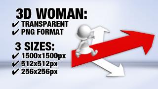 Woman Arrow 2 3D