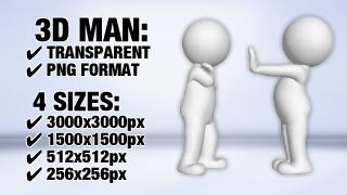 Man Stop 1 3D