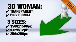 Woman Arrow 3 3D