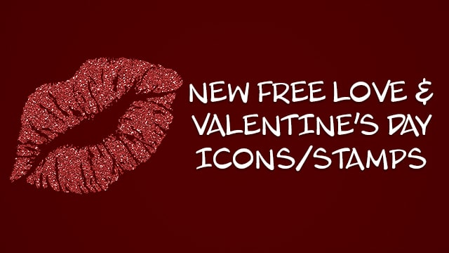 Free Love and Valentine's Day Icons/Stamps