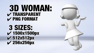 Women Leaning 1 3D