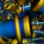Graphics Blue & Gold Moving Up & Down HD Video Background 0820