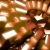 Brown Glossy Screensaver SpinningHD Video Background 0878