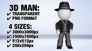 Man with Suit 2 3D