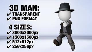 Man with Suit 3 3D