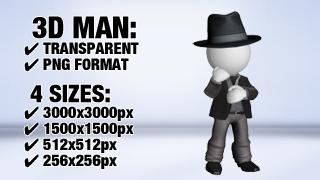 Man with Suit 5 3D