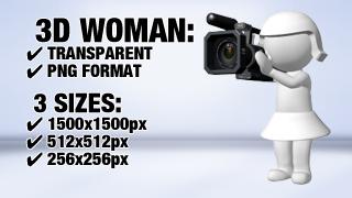 Woman Shooting 1 3D