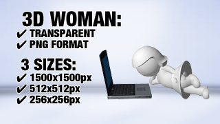 Woman with Notebook 2 3D