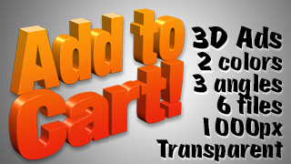 3D Advertising Graphic – Add to Cart