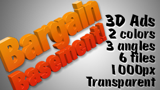 3D Advertising Graphic – Bargain Basement