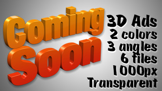 3D Advertising Graphic – Coming Soon