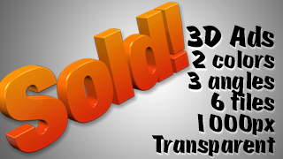 3D Advertising Graphic – Sold