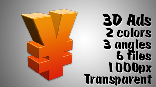 3D Advertising Graphic – Yen