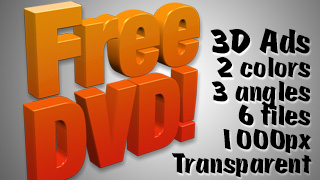 3D Advertising Graphic – Free DVD