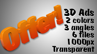 3D Advertising Graphic – Offer