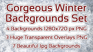 Gorgeous Winter Backgrounds Set