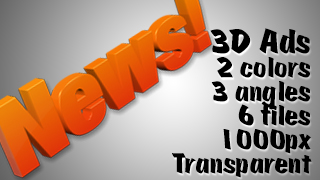 3D Advertising Graphic – News