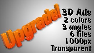 3D Advertising Graphic – Upgrade