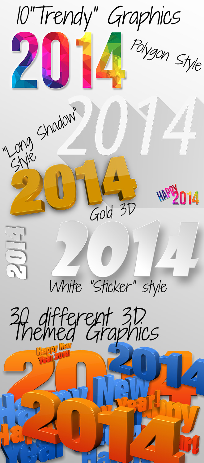 Trendy 2014 themed graphics