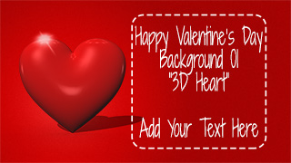 Valentine's Day Background 01 3D Heart