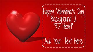 Valentine's Day Background 01 3D Heart