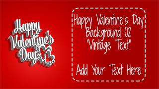 Valentine's Day Background 02 Vintage Text