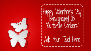Valentine's Day Background 03 Butterfly Stickers