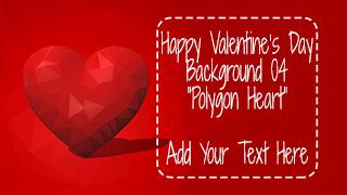 Valentine's Day Background 04 Polygon Heart