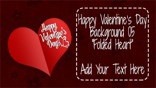 Valentine's Day Background 05 Folded Heart