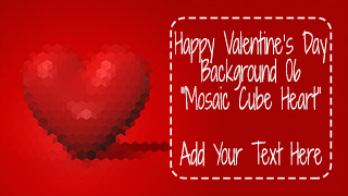 Valentine's Day Background 06 Mosaic Cube Heart