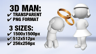 3D Guys Wedding Proposal