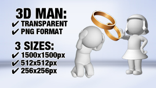 3D Guys Wedding Proposal Rejected