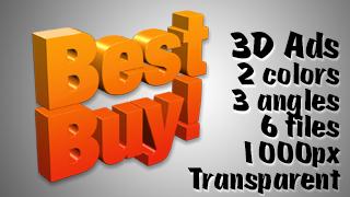 3D Advertising Graphic – Best Buy