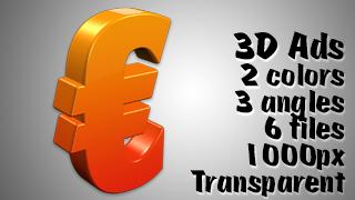 3D Advertising Graphic – Euro Symbol