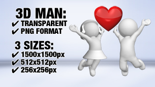 3D Guy and Girl In Love