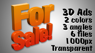 3D Advertising Graphic – For Sale