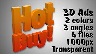 3D Advertising Graphic – Hot Buy