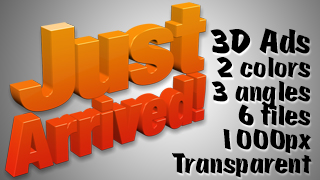 3D Advertising Graphic – Just Arrived