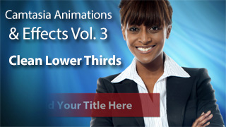 Camtasia Animations Lower Thirds Vol. 3