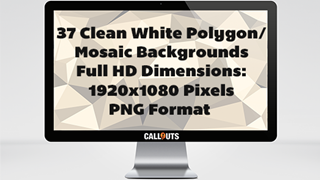 White Clean Polygon/Mosaic Backgrounds