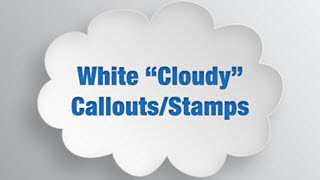 White Cloudy Callouts / Stamps