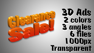 3D Advertising Graphic – Clearance Sale