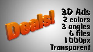 3D Advertising Graphic – Deals