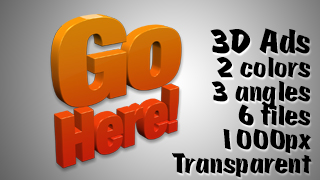 3D Advertising Graphic – Go Here