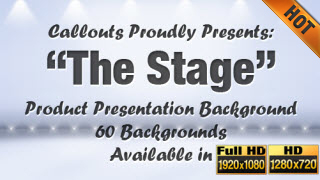 The Stage Product and Video Presentation Background