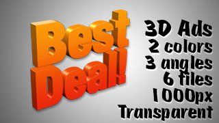 3D Advertising Graphic – Best Deal