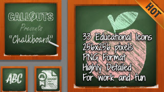 Chalkboard Education Icons
